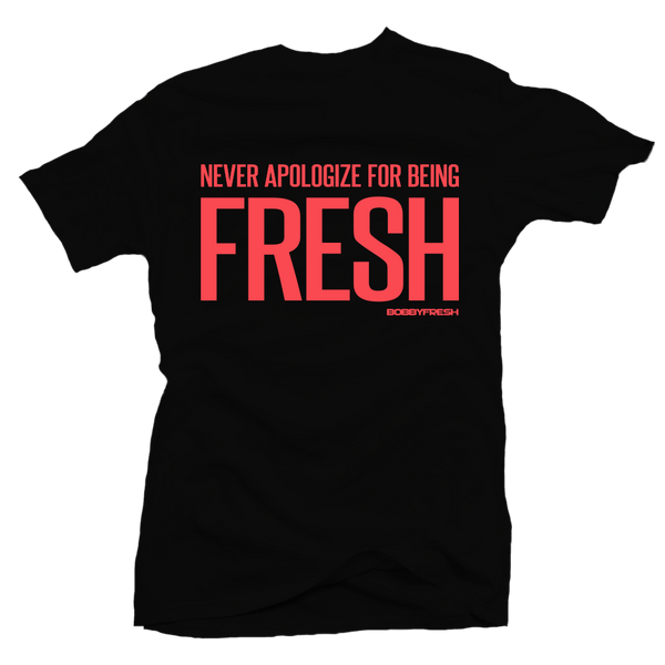 Never Apologize Black Infrared Tee