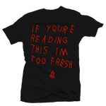 Too Late Bred Black Tee - Bobby Fresh