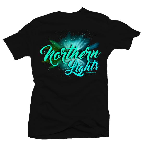 Northern Lights Black Tee