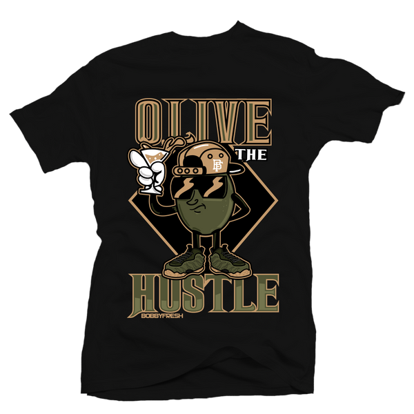 Olive The Hustle Blk Tee