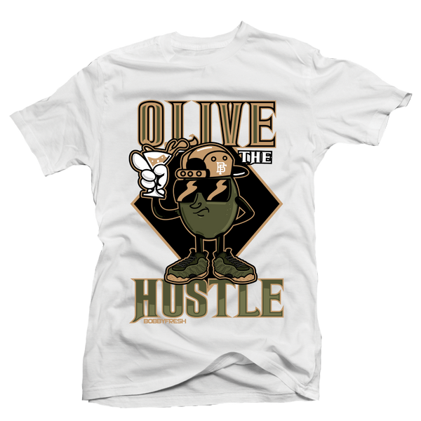 Olive The Hustle Wht Tee