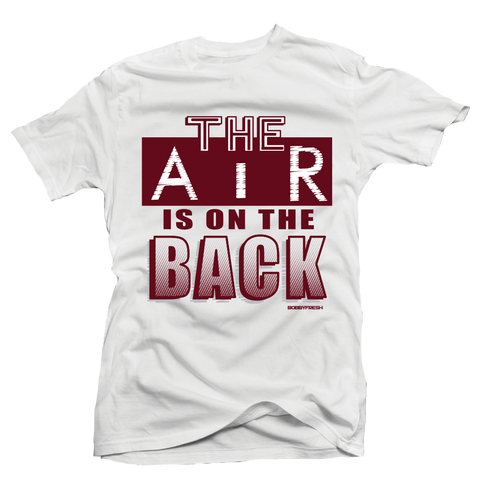 On the Back Maroon White Tee