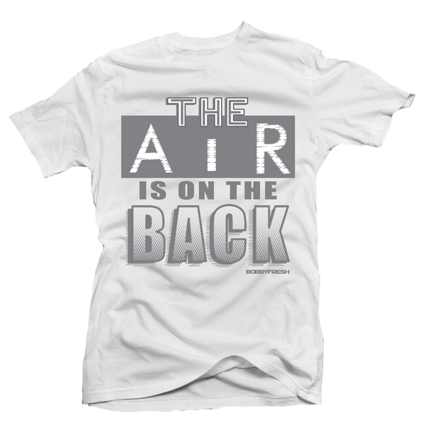 On the Back White/Grey Tee