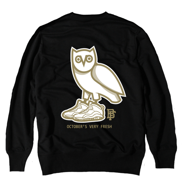 Owl Black Crewneck