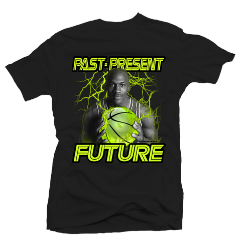 Past Present Future Black Tee