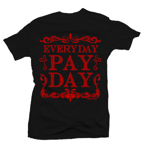 Pay Day Black/Red Tee