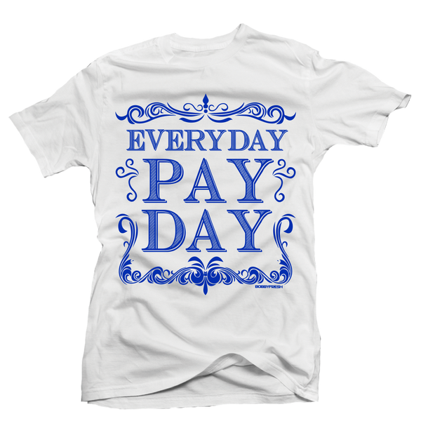 Pay Day White/Colbalt Tee