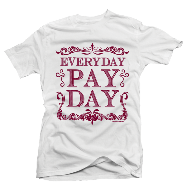 Pay Day Maroon White Tee