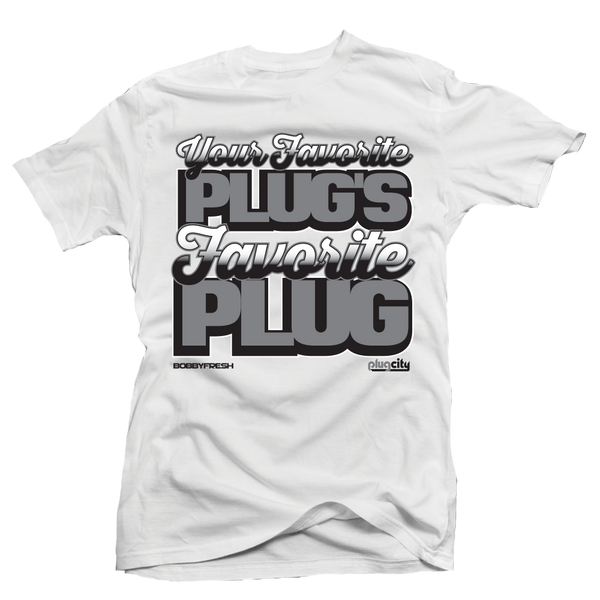 The Plug Cement White Tee