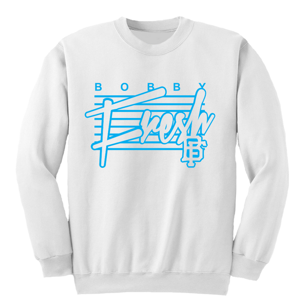 The Retro White UNC Crewneck