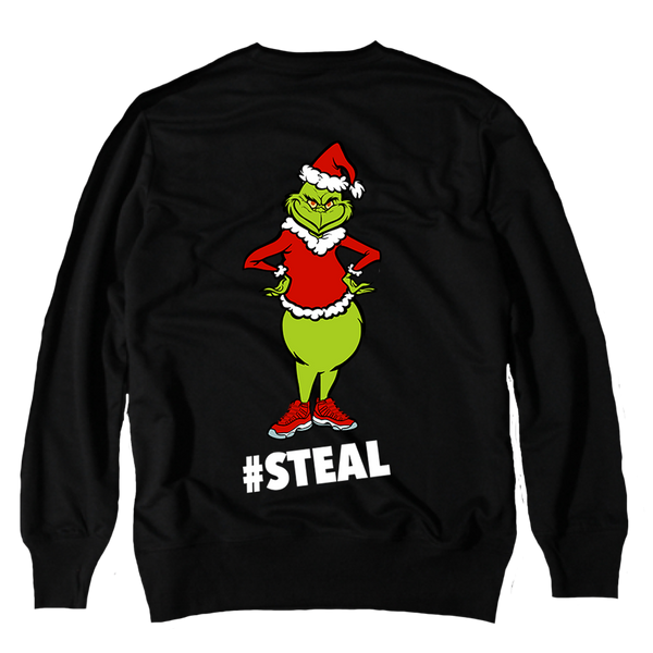 #Steal Black Crewneck Sweater - Bobby Fresh
