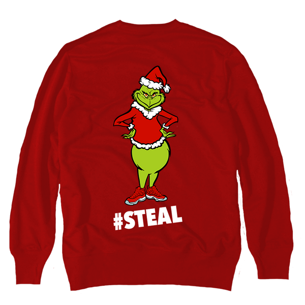 #Steal Red Crewneck Sweater