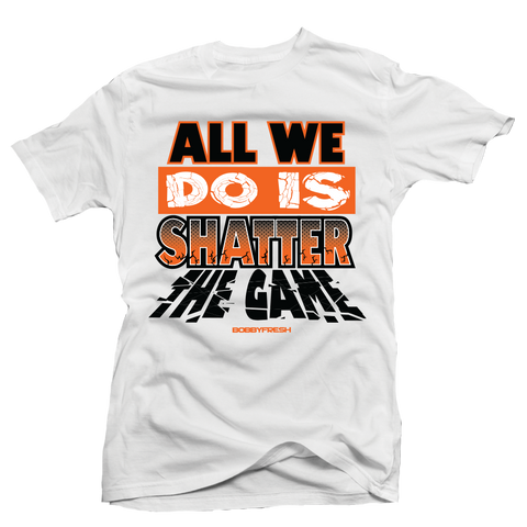 Shatter the Game White Tee
