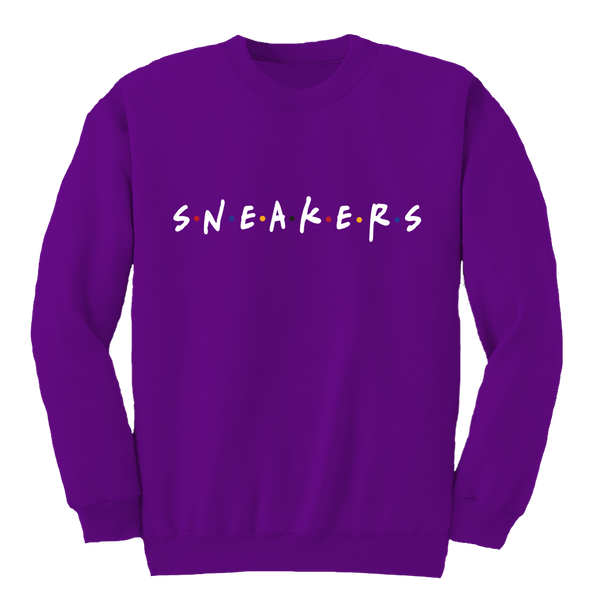 Sneaker Friends Sweater 7 Purple Crewneck