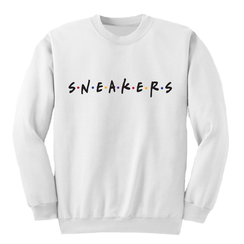 Sneaker Friends Sweater 7 White Crewneck