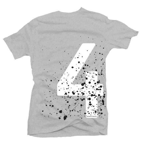 Splatter 4 Heather Grey Tee
