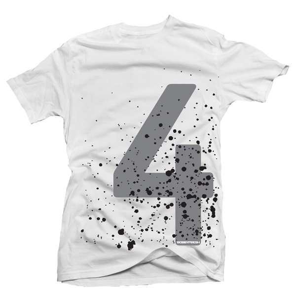 Splatter 4 White  Tee