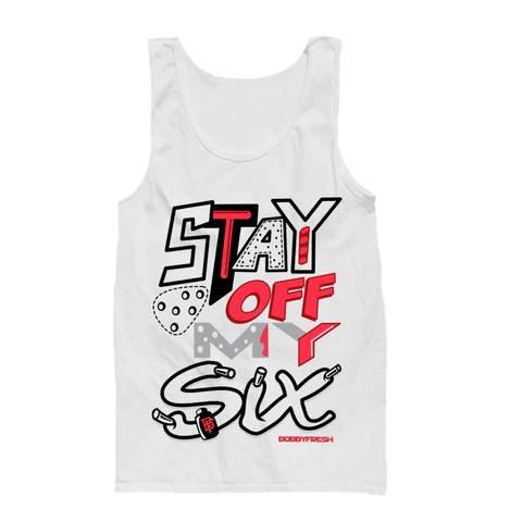Stay Off White Tank
