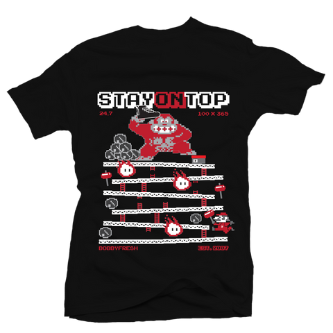 Stay On Top Black Tee