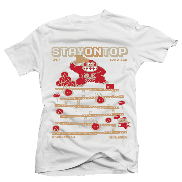 Stay On Top Beach White Tee