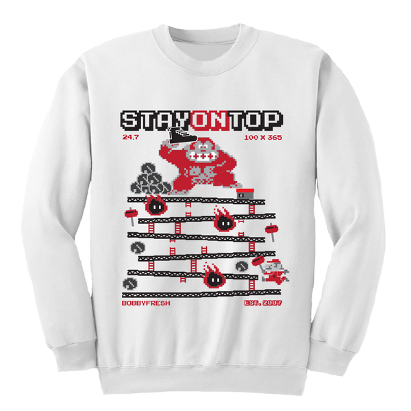 Stay On Top White Crewneck