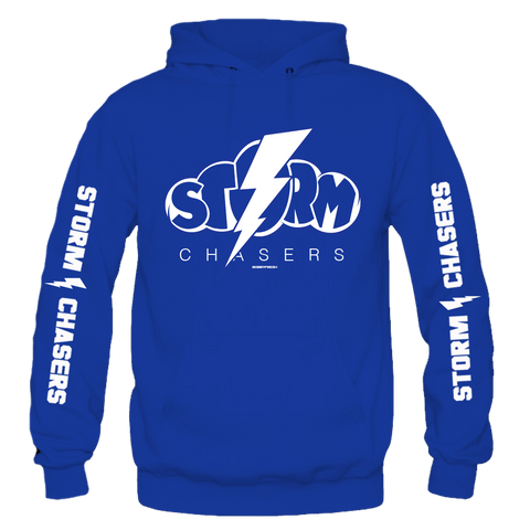 Storm Chasers Mens Blue Hoodie
