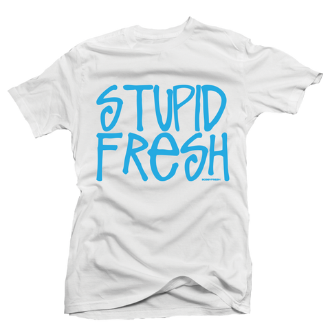 Stupid Fresh White UNC Tee
