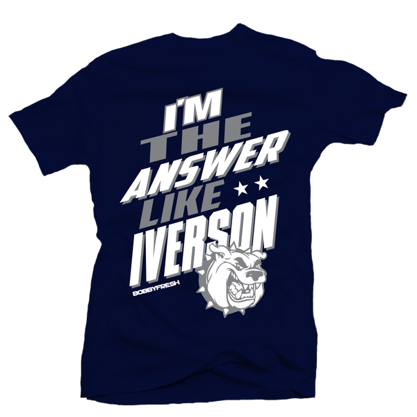 The Answer Navy Tee