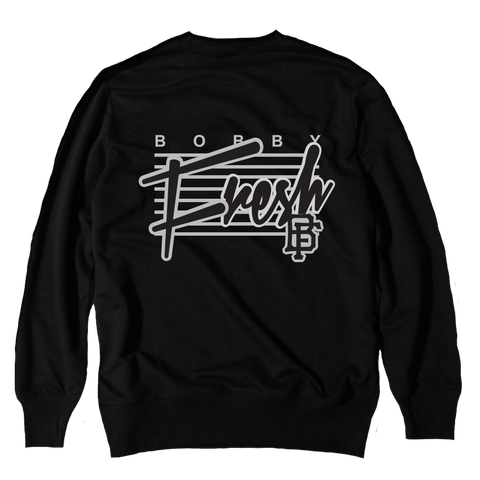 Retro Black Crewneck