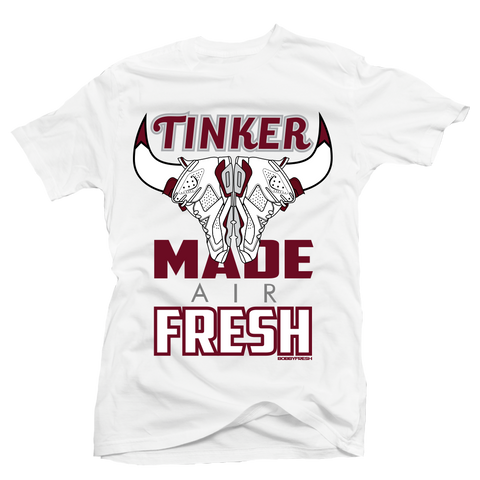 Tinker Made Air Fresh Maroon White Tee
