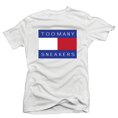 Too Many Sneakers White Tee