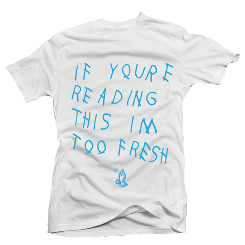 Too Late White UNC Tee