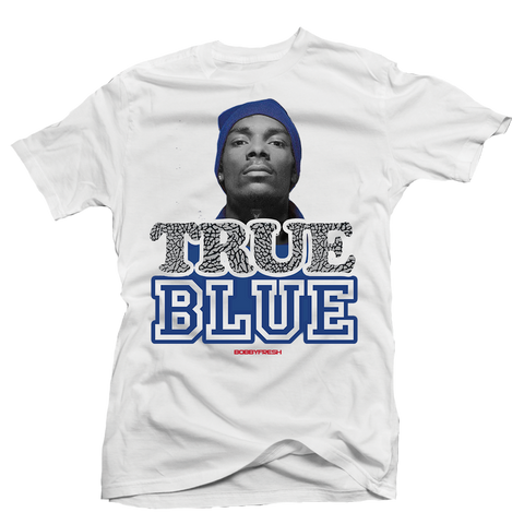 True Blue White Tee