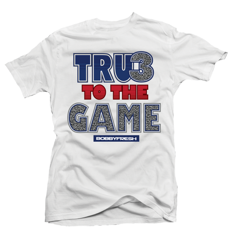 True to the Game White Tee