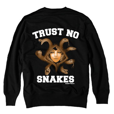 Trust No Snakes Black Crewneck