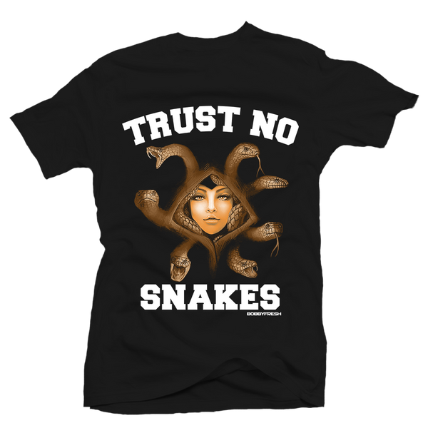 Trust No Snakes Black Tee