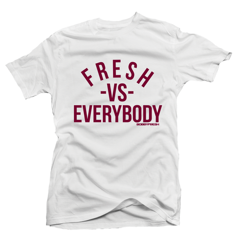 VS Maroon White Tee