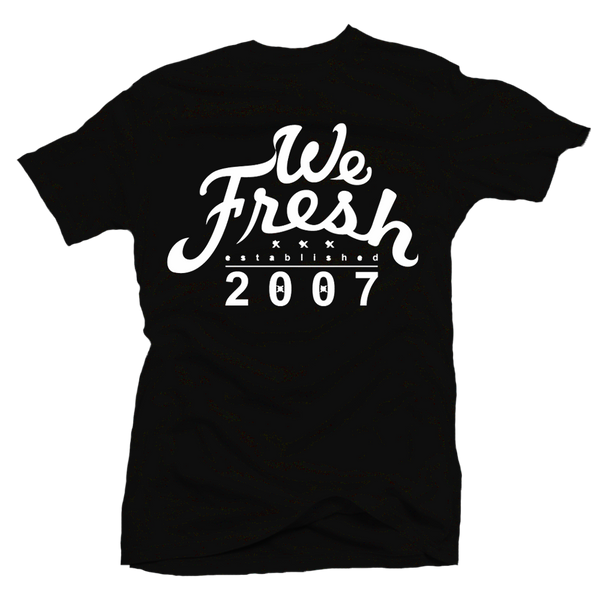 We Fresh Black / White Tee