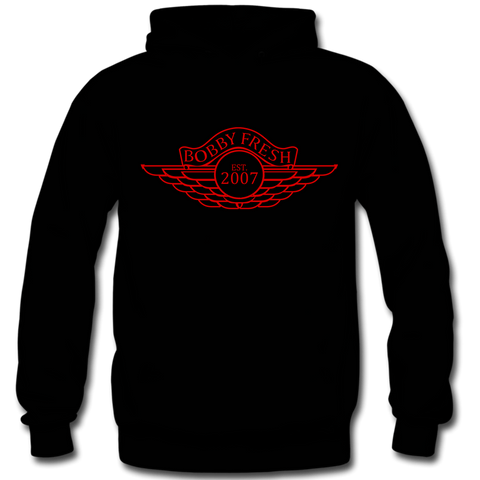 Wings Black Red Hoody