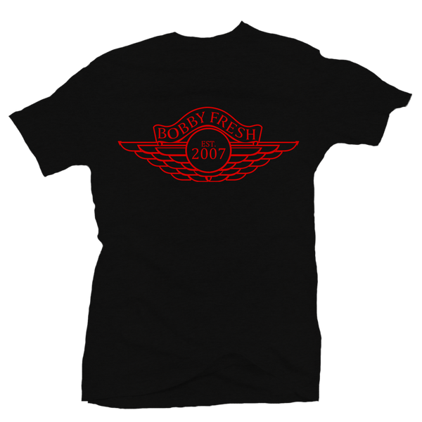 Wings Black Red Tee
