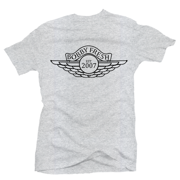 Wings Heather Grey Tee