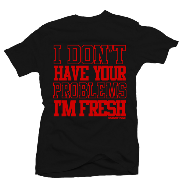 Your Problems Black/Red Tee