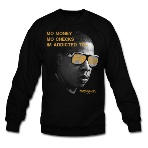 Addicted to Fresh Black/Gold Crewneck