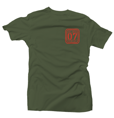 Aim High Army Green/Orange Tee