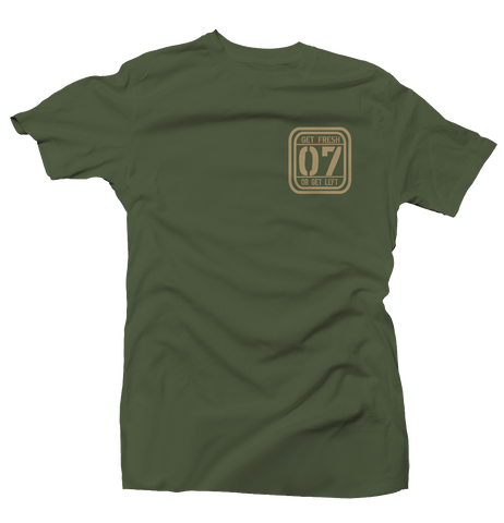 Aim High Army Green/Tan Tee