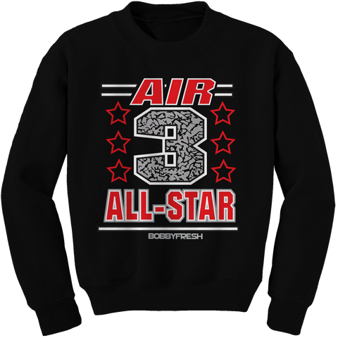 Air 3 Black Cement Crewneck