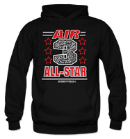 Air 3 Black (Black Cement) Hoodie - Bobby Fresh