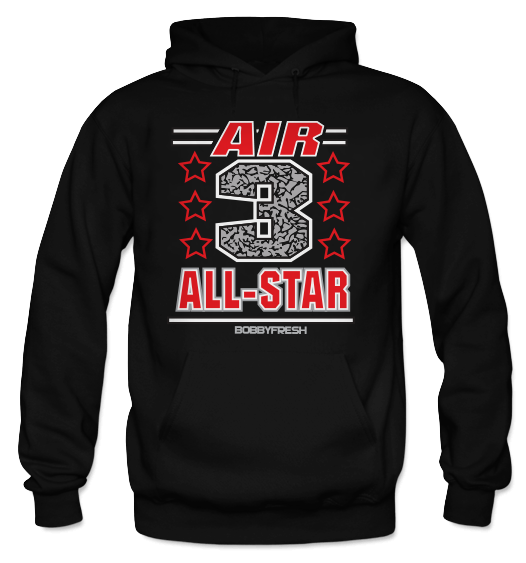 Air 3 Black (Black Cement) Hoodie