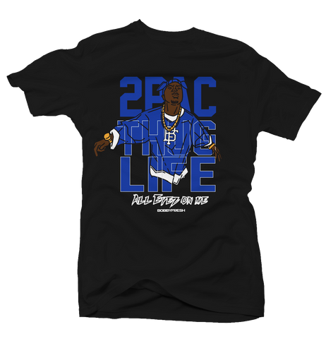 All Eyez on Me Black/Blue Tee