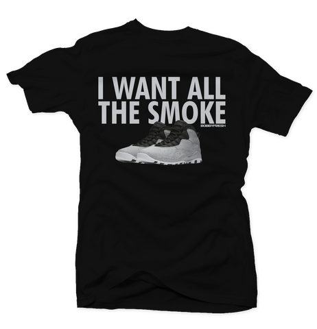 All the Smoke Black Tee